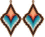 TUTO PAYANT Burning Desire Earrings Beading Pattern by Rita Sova at Bead-Patterns.com