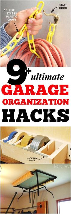 Build ANY Shed In A Weekend - 9 ULTIMATE Garage Hacks Our plans include complete step-by-step details. If you are a first time builder trying to figure out how to build a shed, you are in the right place! Organisation Hacks, Garage Organization Tips, Garage Storage, Door Storage, Organizing Ideas, Storage Racks, Garage Shelving, Garage Shelf, Organising