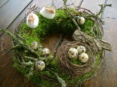 Easter Home Decoration - Inspiration / Easter / Decoration / Easter . - Easter Home Decoration – Inspiration / Easter / Decoration / Easter Decoration / Easter / Easter - Christmas Door, Rustic Christmas, Easter Wreaths, Holiday Wreaths, Diy Décoration, Easter Table, Summer Wreath, Floral Arrangements, Ladder Decor