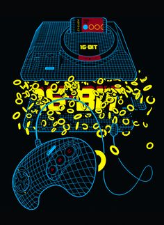***Exploded Megadrive/Genesis*** T-Shirt Design for Game Paused.