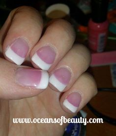French White & Light Pink EZdip Gel Powder. DIY EZ Dip. No lamps needed, lasts 2-3 weeks! Salon Quality done right in your own home! For updates, customer pics, contests and much more please like us on Facebook https://www.facebook.com/EZ-DIP-NAILS-1523939111191370/ #ezdip #ezdipnails #diynails #naildesign #dippowder #gelnails #nailpolish #mani #manicure #dippowdernails