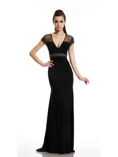 Illuminate your evening with glimmers of limelight in this elegant Johnathan Kayne 490 by Joshua McKinley evening gown. Affordable Evening Gowns, Evening Dresses Online, Chiffon Evening Dresses, Light Up Dresses, Nice Dresses, Formal Dresses, Wedding Dresses, Dresses 2014, Sheer Gown