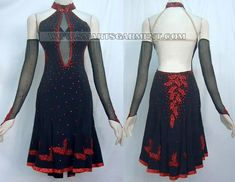 quality latin competition dance clothes,custom made latin dance dresses:LD-SG163