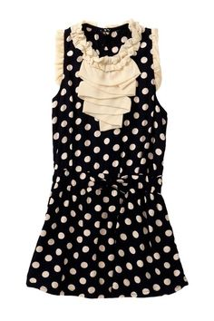 Girls Polka Chiffon Dress