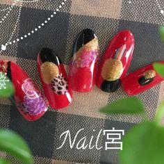 成人式、お正月ネイル #yuyu45 #ネイルブック New Year's Nails, Nailart, Manicure, Design, Nail Bar, Nails, Polish, Manicures