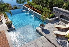 Like everything around us, the concept of the swimming pool design too is undergoing major changes. From being a rectangular pool of water it has evolved into a style statement. A swimming pool in the house is an extension of… Continue Reading → Small Swimming Pools, Small Backyard Pools, Backyard Pool Landscaping, Backyard Pool Designs, Small Pools, Swimming Pools Backyard, Swimming Pool Designs, Small Backyards, Landscaping Ideas