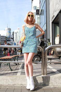 ストリートスナップ [福田 結衣] | BUBBLES, Santa Monica | 原宿 | 2012年08月17日 | Fashionsnap.com