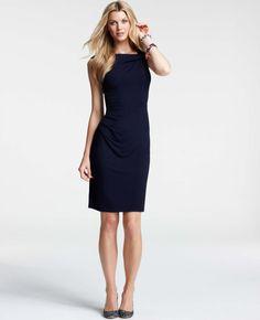 Ann Taylor - AT New Arrivals - Twist Shoulder Jersey Dress