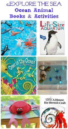 Ocean Books and Activities #preschool #homeschool
