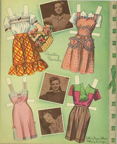 This is an original Judy Garland paper doll set from 1945, uncut complete.  The dolls are drawn by Regina Valli...
