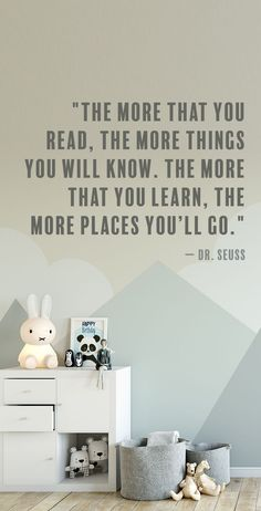 We love this positive and inspirational Dr. Seuss quote about reading. The perfect quote for kids.
