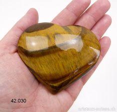 Coeur Oeil de Tigre XL, 7,6 x 6,2 x 3,1 cm. Pièce unique 185 grammes