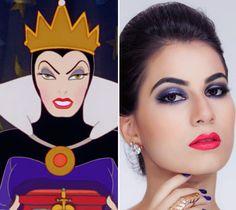 Tutorial inspirado na maquiagem da Rainha Má
