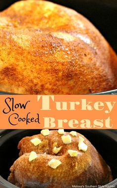 Tender and moist Slow Cooked Turkey Breast for the holidays or anyday made in your slow cooker. Slow Roasted Turkey, Slow Cooker Turkey, Crock Pot Slow Cooker, Crock Pot Turkey, Crock Pots, Turkey Dishes, Turkey Recipes, Turkey Meals, Turkey Leftovers