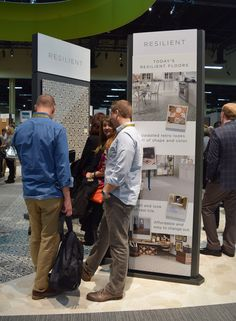 Mannington's new flooring is giving dealers something to talk about. #TISE2017
