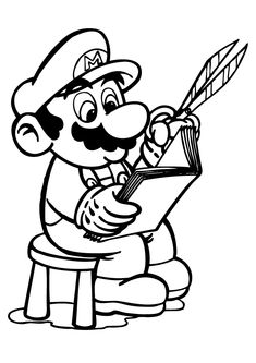 Coloring Pages Super Mario