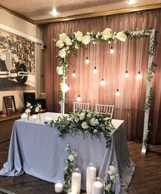 Head Table Decor Head Tables Bridal Table Wedding Table Diy Wedding Wedding – Wedding Tips & Themes Head Table Decor, Wedding Table Decorations, Bridal Shower Decorations, Wedding Themes, Wedding Centerpieces, Diy Table, Wedding Cakes, Head Table Backdrop, Wedding Stage
