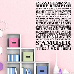 Sticker Enfant charmant mode d'emploi - Stickers Citations Français - ambiance-sticker