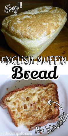 Brunch, English Muffin Bread, Homemade English Muffins, Bread Machine Recipes, Bread And Pastries, Mets, Artisan Bread, Bread Baking, Cooking Bread