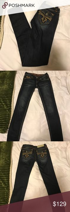 Rock Revival Jeans Rock Revival Dark Blue Jeans. Worn once. Size 25. In great condition! Rock Revival Jeans Skinny