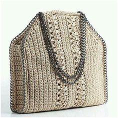 Marvelous Crochet A Shell Stitch Purse Bag Ideas. Wonderful Crochet A Shell Stitch Purse Bag Ideas. Crochet Shell Stitch, Crochet Tote, Crochet Handbags, Crochet Purses, Knit Crochet, Handmade Handbags, Handmade Bags, Sac Stella Mccartney, Diy Handbag