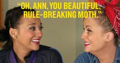 Take Leslie's lead and celebrate your best friend. Animal terminology optional. The full list of Leslie's compliments to Ann