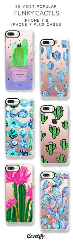 30 Most Popular Funky Cactus iPhone 7 Cases and iPhone 7 Plus Cases. More Protective Plant iPhone case here > https://www.casetify.com/collections/top_100_designs#/?vc=QuaLD8eJXk