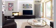 Wnętrze domu - salon - Salon - Styl Skandynawski - MAQ Studio | Architektura + Wnętrza