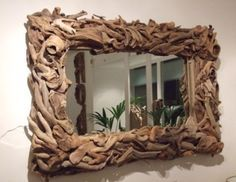 driftwood mirror- so simple and beautiful