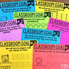 Setting Classroom Goals, Part 2 Setting Classroom Goals, Part to do As you start another school year, I'm sure you have a million and one things planned to do with your students. Classroom Rewards, Classroom Routines, Classroom Behavior Management, 5th Grade Classroom, School Classroom, Classroom Organization, Classroom Ideas, Behavior Goals, Classroom Procedures