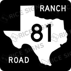 On the road again!! This time TEXAS RANCH Route 81.  Custom Route Sign Simulator for All 50 States.