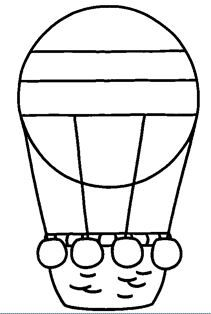 Hot air balloon coloring page Art Drawings For Kids, Drawing For Kids, Pattern Coloring Pages, Coloring Sheets, Craft Activities For Kids, Preschool Activities, School Murals, Activity Sheets, Exercise For Kids