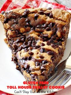 Gluten Free Toll House Skillet Cookie | Can't Stay Out of the Kitchen | this spectacular #skillet #cookie is everything you can ask for in a #dessert. It's rich, chocolaty, decadent & takes #TollHouse #cookies to the next level. Great for a #holiday #dessert like #FathersDay. This one's made with #glutenfree flour & #coconutsugar. #chocolate #chocolatechipcookies