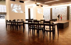 T-bone, chairs and tables, design bOb Van Reeth, Dossin Museum Mechelen
