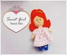 Tutorial Felt Craft Boneca #1. Doll. Feltro