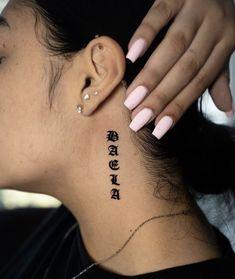 Word Neck Tattoos, Emo Tattoos, Small Tattoos, Tattoos For Guys, Piercing Tattoo, I Tattoo, Tattoo Quotes, Piercings, Behind The Neck Tattoos