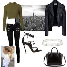 New York by geriksen on Polyvore featuring polyvore, fashion, style, Balenciaga, Paige Denim, Dsquared2, Givenchy and Cartier