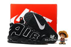 hot sale online 66492 d8bd2 Women Men Nike Air More Uptempo Black White 2016 Release Best