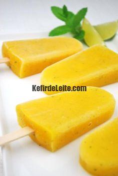 Sorvete de Kefir e Pêssego ( Substitua o creme de lite por cream cheese)