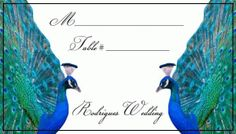 peacock seating cards