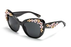 Women's black metal and acetate glasses with butterfly frame by Dolce & Gabbana almond flowers dg4230 | Eyewear Dolce & Gabbana