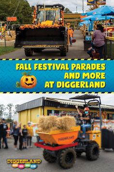 Our Fall Festival is officially underway! We have our parade of machines, hayrides, bonfires and more. The best part is it's all included with weekend admission. Get your family out of the house and come experience over 40+ rides and attractions at the only construction theme & water park in the US. Carnival Rides, Construction Theme, Bonfires, Family Outing, Pumpkin Decorating, Special Events, Fall Decor, Monster Trucks, This Is Us