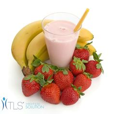 Strawberry Banana TLS Shake! Ingredients: 2 scoops TLS Nutrition Shake - Creamy Vanilla OR 1 serving TLS Whey Protein Shake - Vanilla 1 banana 1 cup strawberries 1 cup skim milk Directions: Blend & enjoy!