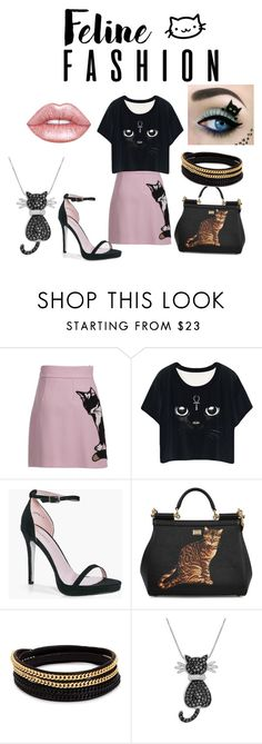 """Cats rule"" by twilight-1985 ❤ liked on Polyvore featuring MSGM, Boohoo, Dolce&Gabbana, Vita Fede, Amanda Rose Collection and Lime Crime"