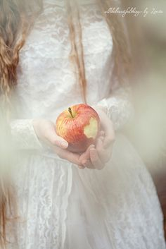 """""""And when you crush an apple with your teeth, say to it in your heart:  Your seeds shall live in my body, And the buds of your tomorrow shall blossom in my heart, And your fragrance shall be my breath, And together we shall rejoice through all the seasons."""" ~ ― Khalil Gibran ♥ Art ~ all the beautiful things by Loreta"""
