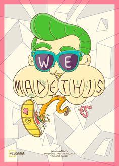 Wemadethis.es Poster by Brosmind , via Behance