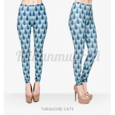 Siniset kissa legginsit
