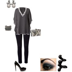 Gray and Black, created by dscc.polyvore.com