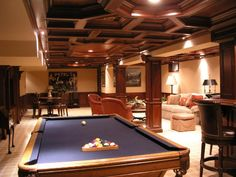 like the pool table near card table and seating