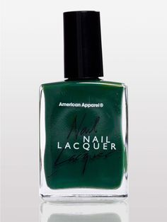 love this nail dark green nail polish